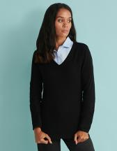 Ladies` Lightweight V Neck Jumper